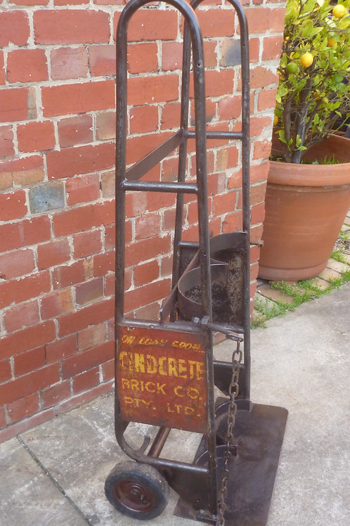 Vintage steel brick hand cart