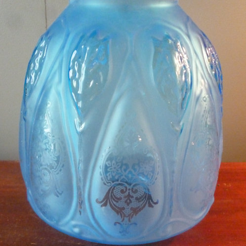 Reproduction Duplex oil lamp shade Tulip closed top blue or clear