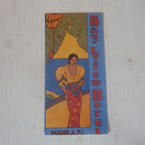 Vintage hotel label