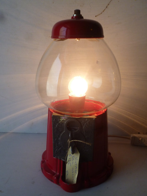 Vintage light made out of Gumball machine