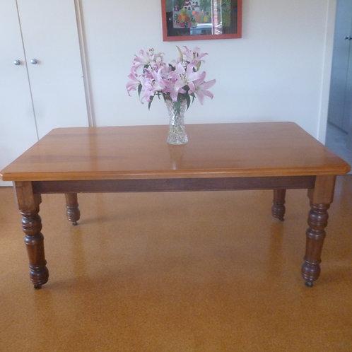 Edwardian blackwood and kauri pine kitchen table