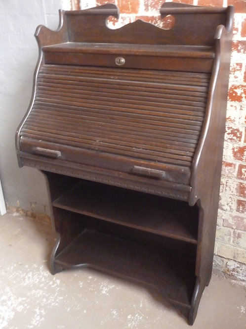 Antique oak mini rolltop desk made by Foy and Gibson Collingwood