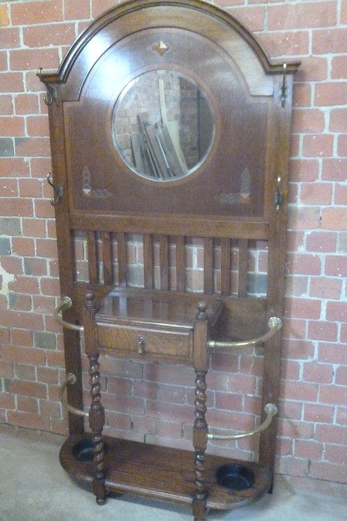 Antique oak hallstand