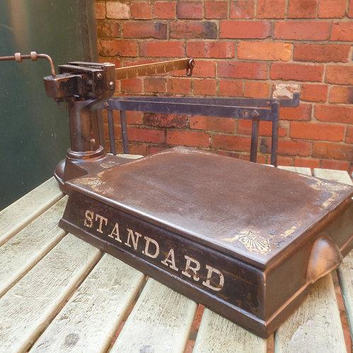 original cast iron grocers shop scales