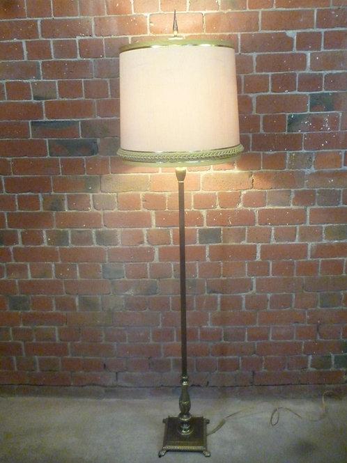 Retro brass standard lamp