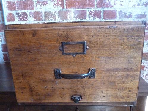 Aust oak filing drawer