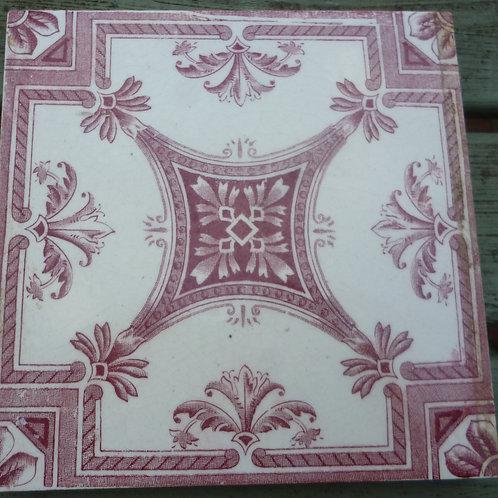 English Ceramic printed tiles 7 off