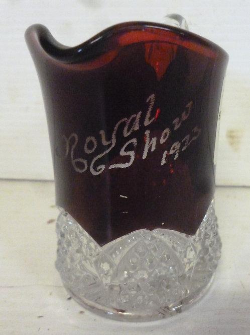 Flashed Ruby glass jug