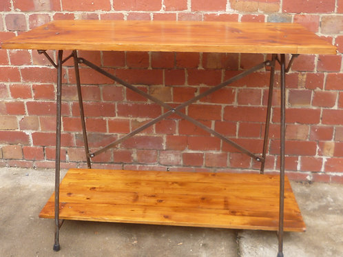 Sugar pine, baltic pine and steel table/desk