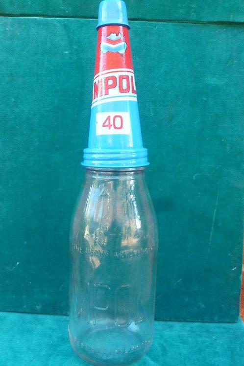 Ampol quart reproduction oil bottle