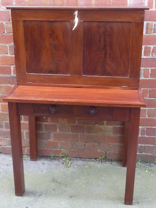Small Victorian mahogany secretaire desk
