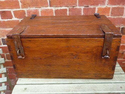 Rustic hardwood tool chest