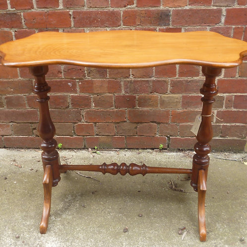 Late Victorian black wood and kauri pine occasional table