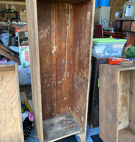 Tall Primitive Cabinet