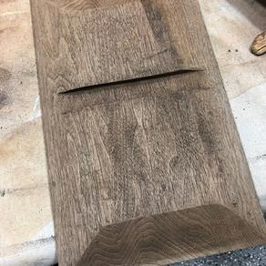 Reclaimed Wood Wall Vase