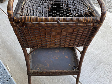 Wicker Table Gets a New Top