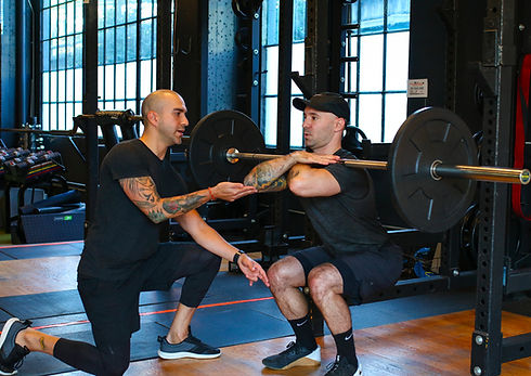 Front squat personal training