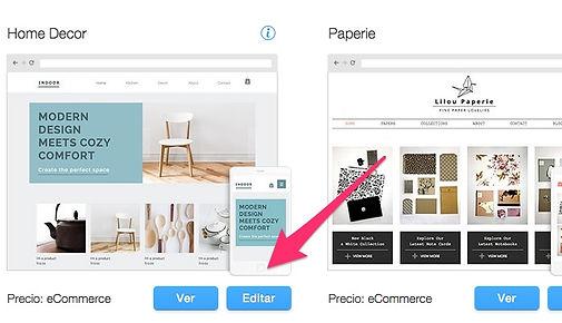 plantillas de tienda online con wix