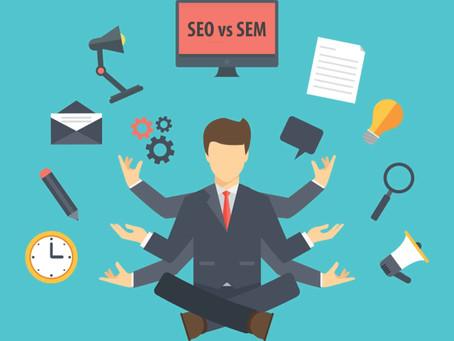Diferencias clave entre posicionamiento  Seo y SEM
