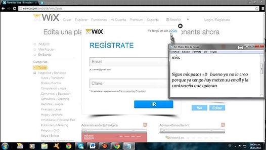 como crear un blog en wix