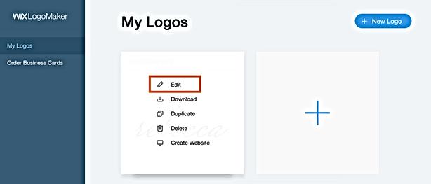 crear un logo con logo maker de wix
