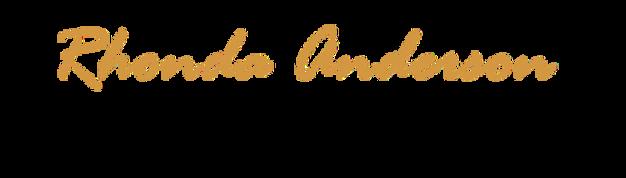 Rhonda Anderson Signature Gold-Rage Ital