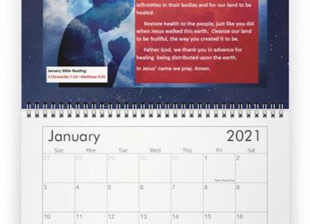 12 Months of Prayer Inspirational Calendar (mini/classic size)