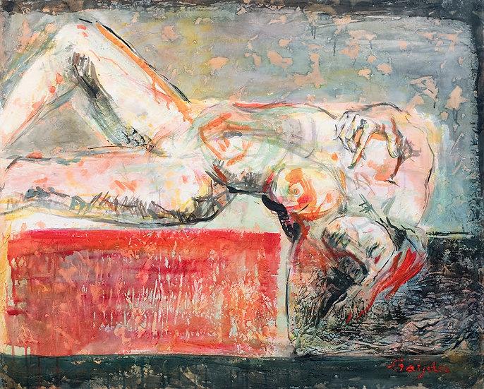 """""""Femme au rouge"""" 81x100"""