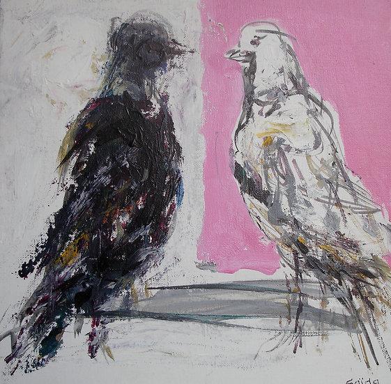 """""""Pigeons"""" 30x30"""