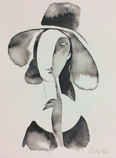 """""""Reminiscences de Amadeo """", 24x30, encre de chine"""