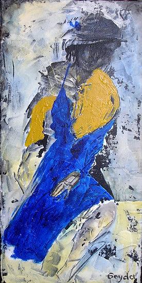 """""""La fille à la robe bleue"""" 25x40"""