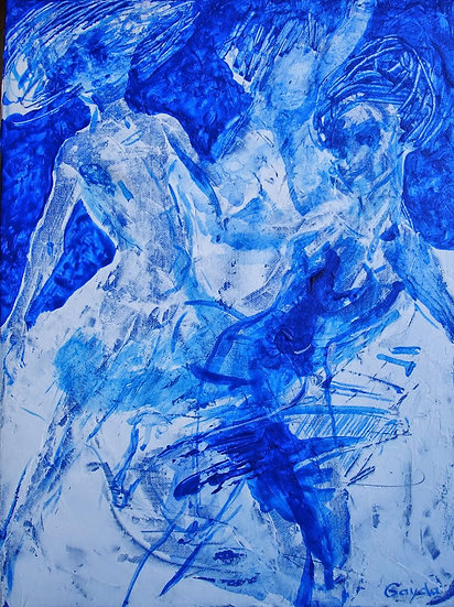 """Danse bleue"" 30x40"