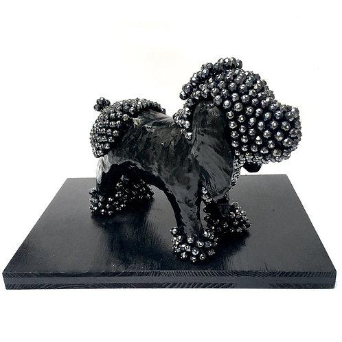 cristian-lanfranchi abstract contemporary art pet pop animal dog Black Lab