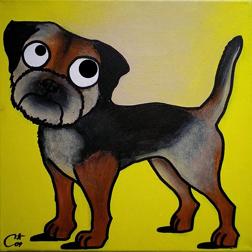 cristian-lanfranchi dog portrait pop art painting terrier