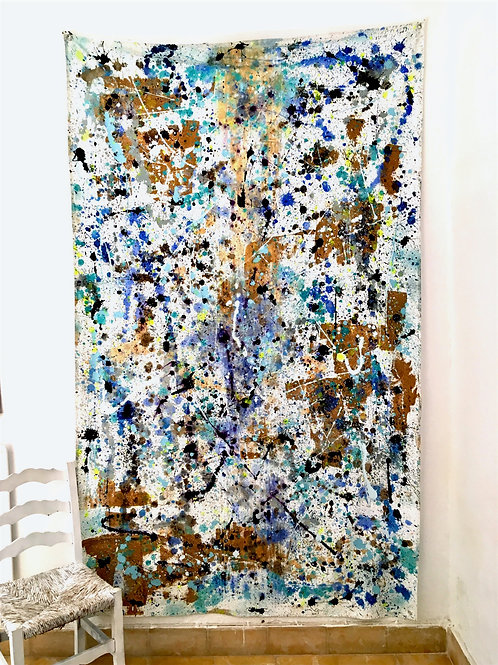 cristian-lanfranchi large Blue Med abstract painting contemporary art