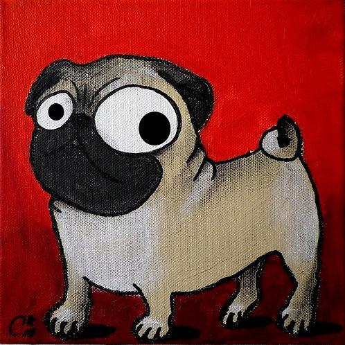 cristian-lanfranchi dog portrait pop art painting pug