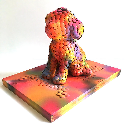 cristian-lanfranchi abstract contemporary art pet pop animal dog Divine Dog