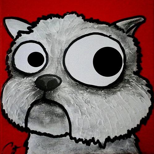 cristian-lanfranchi dog portrait pop art painting westie