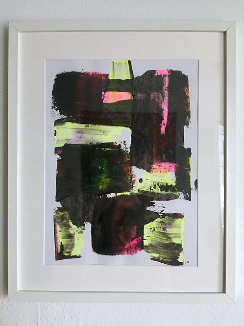 cristian-lanfranchi  abstract art painting Neon Pink
