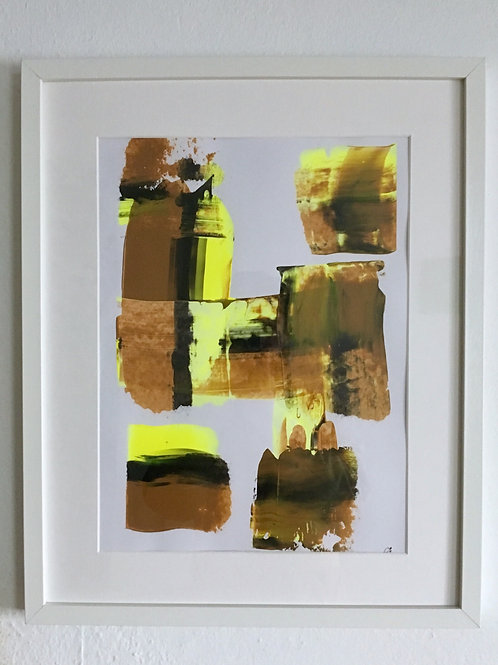 cristian-lanfranchi  abstract art painting Caramel Gelb