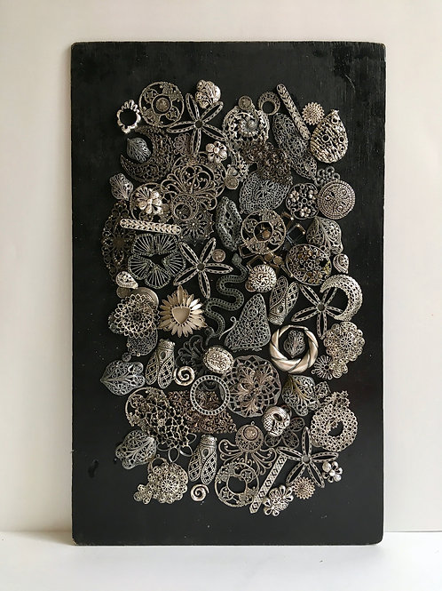 cristian-lanfranchi abstract contemporary art bijoux jewellery Precious Panel #9