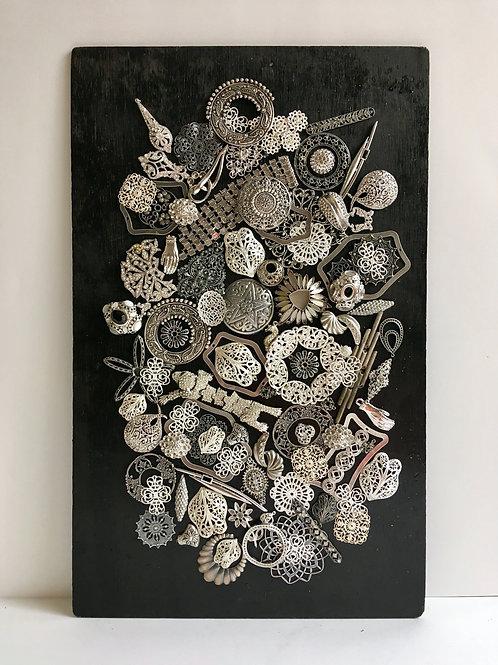 cristian-lanfranchi abstract contemporary art bijoux jewellery Precious Panel #6