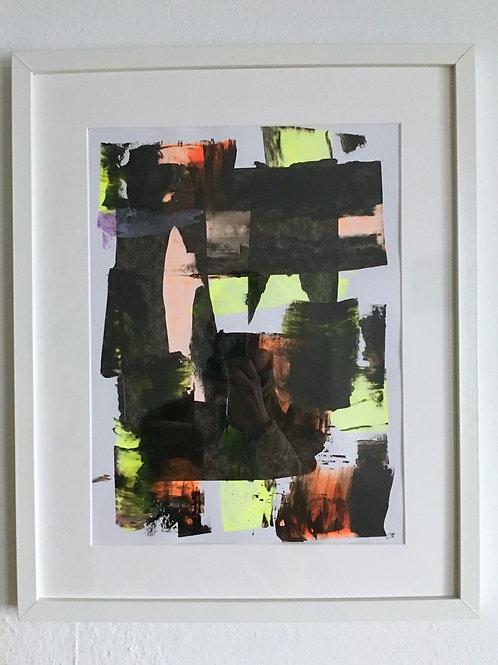 cristian-lanfranchi  abstract art painting Neon Orange