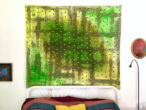 cristian-lanfranchi abstract art painting contemporary unstretched Verte