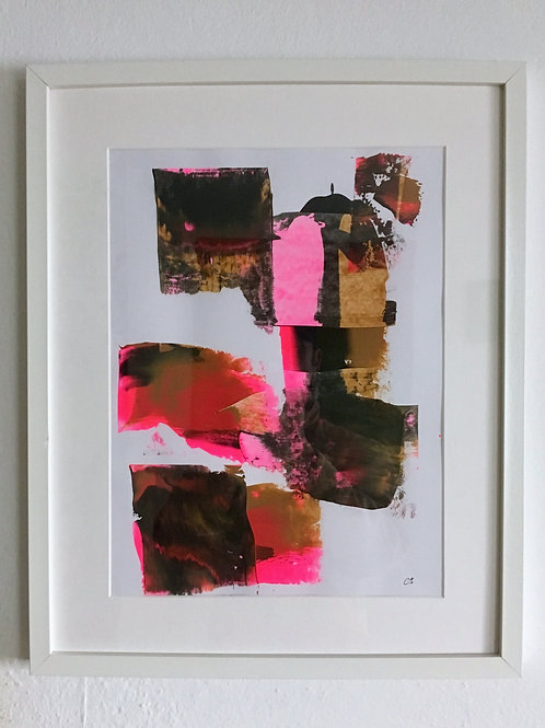 cristian-lanfranchi  abstract art painting Caramel Pink
