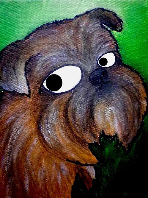 cristian-lanfranchi dog portrait pop art painting
