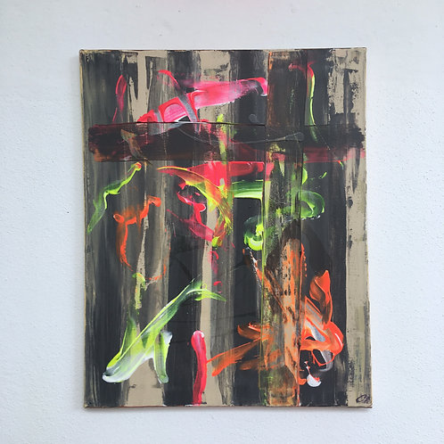 cristian-lanfranchi abstract art painting contemporary Cage Noire