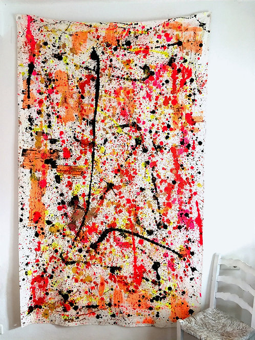 cristian-lanfranchi large Red Berry abstract painting contemporary art