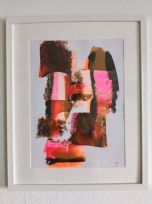 cristian-lanfranchi  abstract art painting Caramel Rosé