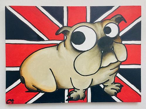 cristian-lanfranchi dog portrait pop art painting Billy the Bulldog